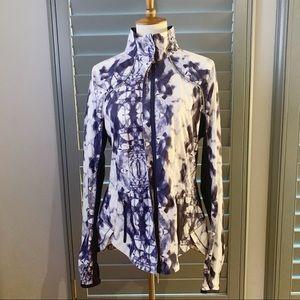 Lululemon Jacket Blue & White Inkblot Size 10